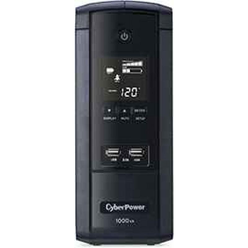 CyberPower BRG1000AVRLCD LCD & AVR UPS System Intelligent LCD Series