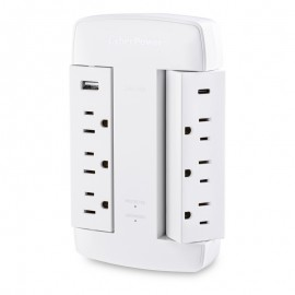 CyberPower CSP600WSURC5 Professional Surge Protector (6 Swivel Outlet)