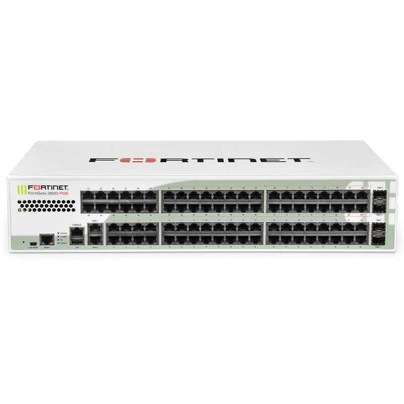 FortiGate 280D-POE Hardware With 24x7 FortiCare & FortiGuard Unified Threat Protection (5 Years)