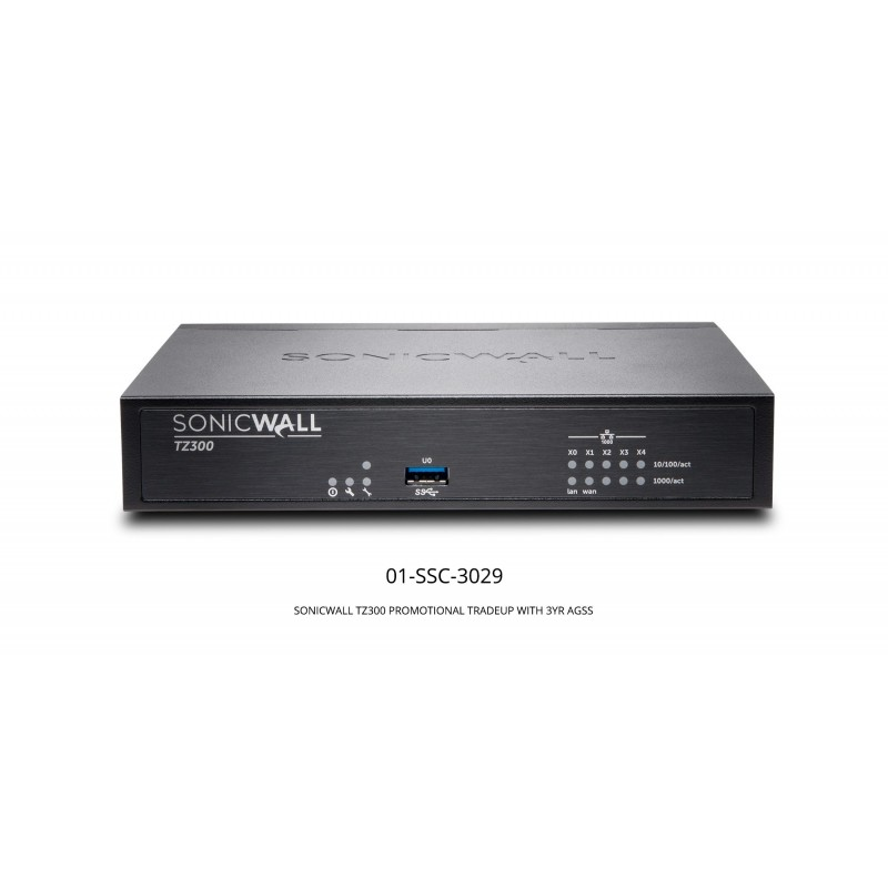 TZ300 Promotional Tradeup With 3Yr Advanced Gateway Security Suite (AGSS)