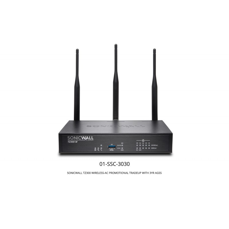 TZ300 Wireless-Ac Promotional Tradeup With 3Yr Advanced Gateway Security Suite (AGSS)