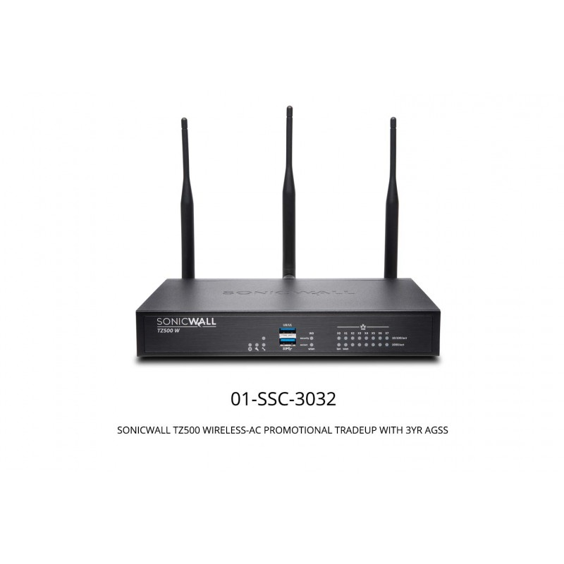 TZ500 Wireless-AC Promotional Tradeup With 3Yr Advanced Gateway Security Suite (AGSS) Appliances