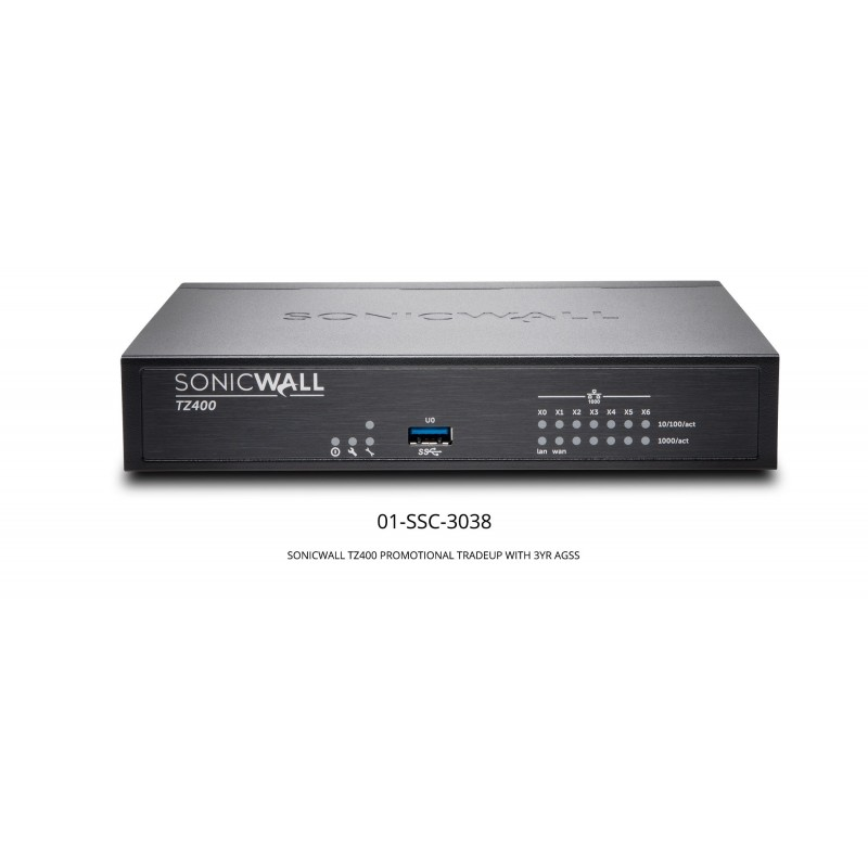TZ400 Promotional Tradeup With 3Yr Advanced Gateway Security Suite (AGSS)