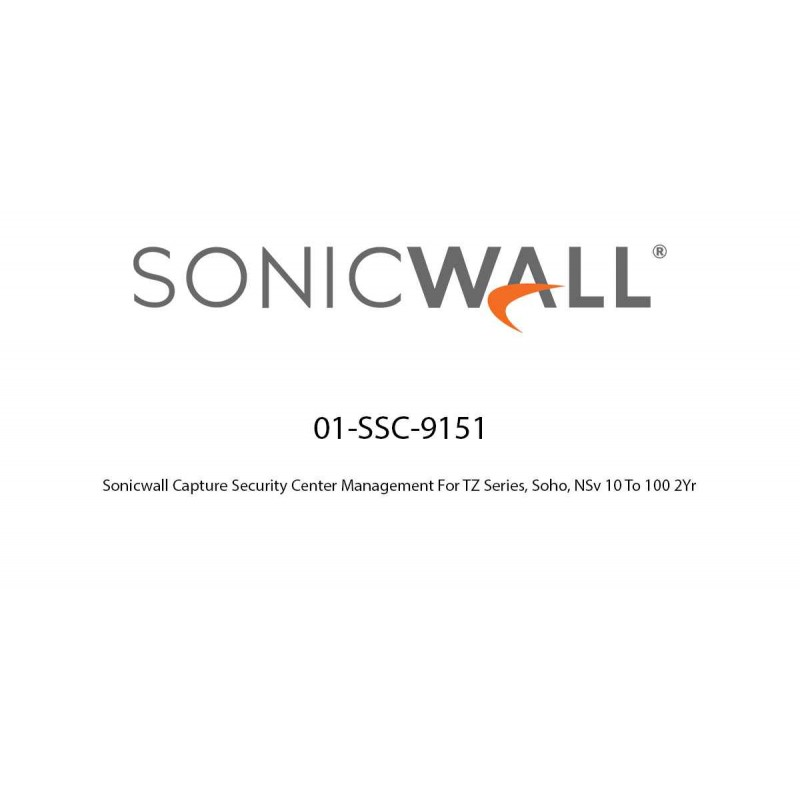 Sonicwall Capture Security Center Management For TZ Series, Soho, NSv 10 To 100 2Yr