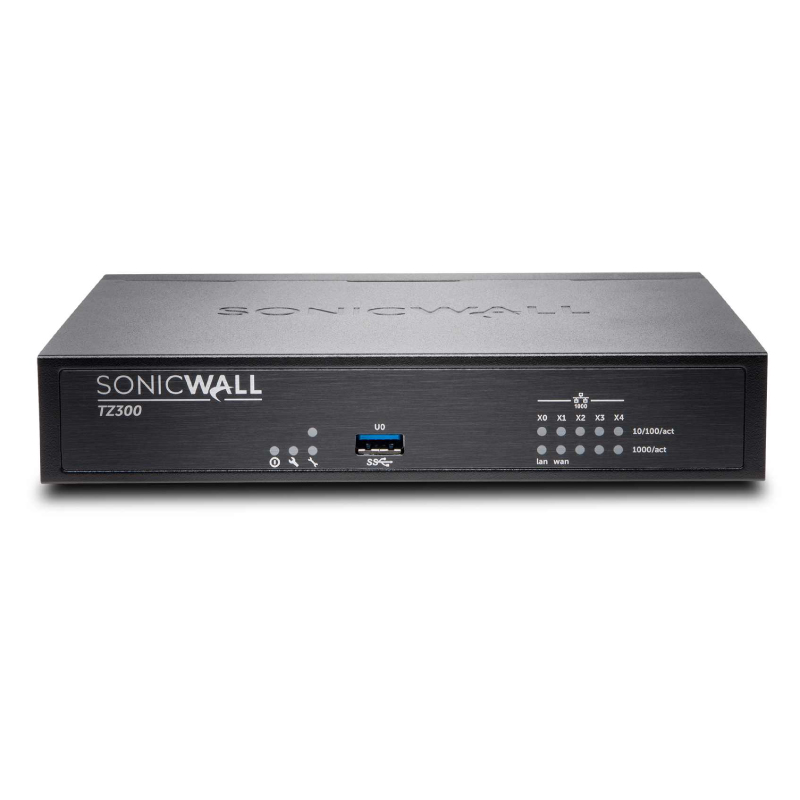 Sonicwall TZ300 Totalsecure Advanced - Cloud Management, 10Seat Endpoint Protection 2Yr Total Secure Advanced