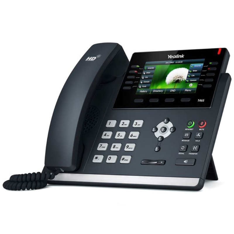 Yealink SIP-T46S-SFB Skype For Business Gigabit VoIP Phone Yealink